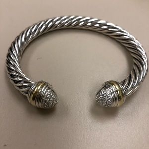 David Yurman 7 mm bracelet two tone